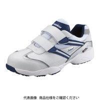 シモン(Simon) プロテクティブスニーカー(マジック式) KA218 白/ブルー 26.5 2313240 1足(直送品)