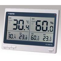 佐藤計量器製作所 デジタル温湿度計 PC-5400TRH 校正書類一式付 1式 62-0850-51 (直送品)