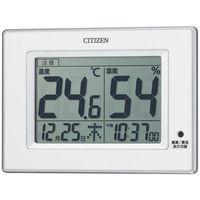 リズム時計 シチズン高精度置掛兼用温湿度計 白 8RD200-A03 1台(わけあり品)