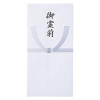 モーノクラフト 仏 万円型封筒 藍銀 御霊前10枚 SMC-405 5パック(直送品)