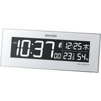 リズム時計(RHYTHM) Iroria(イロリア) [デジタル 電波 置き 時計] ホワイト 8RZ173SR03 1個 (直送品)