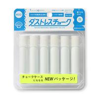 ダストレスチョーク6本入 白 DCC-6-W 10個 日本理化学工業 (直送品)