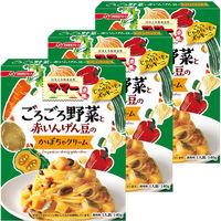 日清フーズ マ・マー ごろごろ野菜と赤いんげん豆のかぼちゃクリーム 1セット 5個