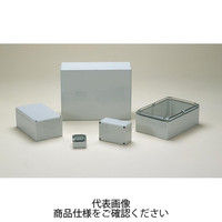 DPCP型防水・防塵ポリカーボネートボックス カバー/透明・ボディー/ホワイトグレー DPCP050704T 1セット(2台) (直送品)