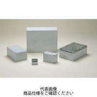 DPCP型防水・防塵ポリカーボネートボックス カバー/透明・ボディー/ホワイトグレー DPCP081606T 1セット(2台) (直送品)