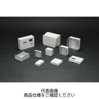 SPCP型防水・防塵ポリカーボネートボックス カバー/透明・ボディー/ホワイトグレー SPCP101004T 1セット(3台)(直送品)