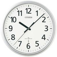 RHYTHM(リズム時計)シチズンスリーウエイブ高感度電波時計853 掛け時計 [スイープ 秒針停止機能] 直径335mm 4MY853-019 1個