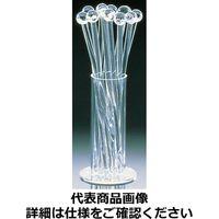 清水食器 アクリル クリアーマドラー12本セット(スタンド付)4421 OMD75 (取寄品)