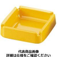 エンテック メラミン カラー灰皿 A-270 正角レスト付〈黄〉 PHI66YE(取寄品)