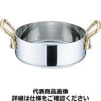 UK18-8プチパン 両手浅型鍋(蓋無)10cm PPTA103 三宝産業(取寄品)