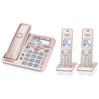 パナソニック コードレス電話機(子機2台付き)(ピンクゴールド) VE-GD56DW-N 1台  (直送品)