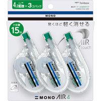 トンボ鉛筆 修正テープモノエアーヨコ引き4 3Pパック KPB-331 1パック(3個入)(直送品)