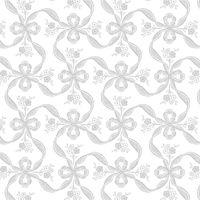 ササガワ 包装紙10枚ロール フラールリボン銀 半才判 49-7805(取寄品)