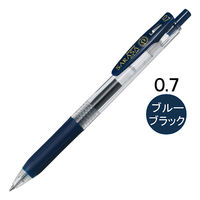 ゲルインクボールペン サラサクリップ 0.7mm ブルーブラック 紺 10本 JJB15-FB ゼブラ