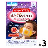 めぐりズム 蒸気でホットうるおいマスク ラベンダーミントの香り ふつう 1セット(3枚入×3箱) 花王