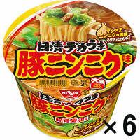日清デカうま 豚ニンニク味 6食
