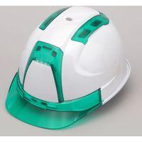 TOYO ヘルメット ヴェンティー ひさし/グリーン 帽体/白 390F-OTGG トーヨーセフティー(直送品)