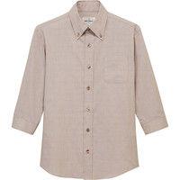 チトセ EP7915 ボタンダウンシャツ(七分袖)[兼用] LL EP7915_C-7ベージュ_LL(取寄品)