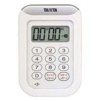 タニタ 丸洗いタイマー 100分計 TD-378 ホワイト 8644720 EBM 2個(わけあり品)