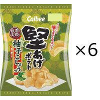 カルビー 堅あげポテトきざみ柚子こしょう味 60g 1セット(6袋)