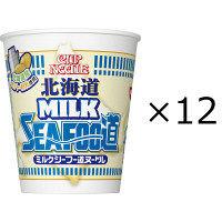 日清食品 カップヌードル 北海道ミルクシーフー道ヌードル 12個