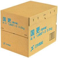 日本製紙 国更 A4 1箱(1000枚入×3冊)