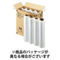 「現場のチカラ」2インチ紙管 ストレッチフィルム 12μm 500mm×500m巻 透明 ST12(2in) 1箱(8本入) アスクル