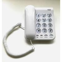 カシムラ 電話機 シンプルフォン ホワイト SS-07 1台
