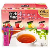 名糖産業 スティックメイト フルーツティーアソート 1箱(96本入)