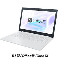 NEC LAVIE Direct 15.6型ノートPC Core i3 /Office無 ホワイト PC-GN232JDLF-AS41 1台