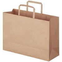 アスクル 平紐 クラフト紙手提袋ベーシック 320×230×115 mm 茶無地 1セット(900枚:300枚入×3箱)
