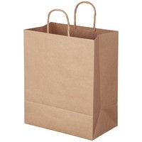 アスクル 丸紐 クラフト紙手提袋ベーシック 300×360×180mm 茶 無地 1箱(100枚:50枚入×2袋)