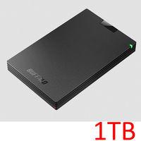 バッファロー USB3.1(Gen.1)対応 ポータブルHDD1TB ブラック HD-PCG1.0U3-BBA 1台