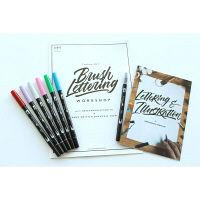 ロハコ限定 水性マーカー ABT 6色セット カラーレスブレンダー1本&ワークシート付き トンボ鉛筆