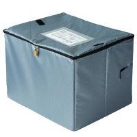 <LOHACO>【アウトレット】アスカ 宅配BOX スタンダード 荷物対応サイズ:W500×D400×H360mm 2mワイヤー・ダイヤル錠・南京錠付き 1個 DSB100