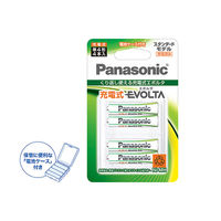 Panasonic(パナソニック) 充電式エボルタ 単4形 (スタンダードモデル) BK-4MLE/4BC 1パック(4本入)