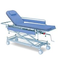 日進医療器 担架固定型ストレッチャー[省力昇降式] (背上げ機構付き) TY229FS-DB 1台 8-8073-02 ナビスカタログ(直送品)