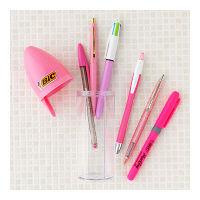 LOHACO限定ボールペンセット PINK(4色ボールペン+単色ボールペン4種+蛍光ペン) BASTPNK-L6P BICジャパン