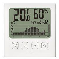 タニタ グラフ付き デジタル温湿度計 TT580WH 1セット(3個:1個×3)