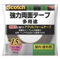 スリーエムジャパン スコッチ(R) 強力両面テープ 多用途15mmx10m PSD-15 1巻