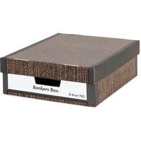 フェローズ 743Sボックスバンカーズボックス ウッドグレイン 1006801 1カートン(30枚:6枚/パック×5)(直送品)