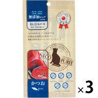 ねこぴゅーれ 猫用 無添加ピュア かつお 国産(13g×4本)3袋 リバードペット