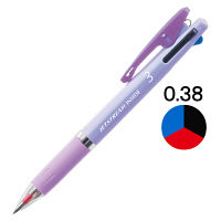 ジェットストリーム インサイド 3色ボールペン 0.38mm パープル軸 紫 アスクル限定 3本 H.SXE34053812 三菱鉛筆uni