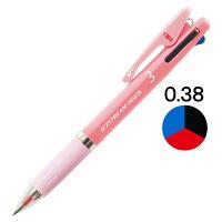 ジェットストリーム インサイド 3色ボールペン 0.38mm ピンク軸 アスクル限定 3本 H.SXE34053813 三菱鉛筆uni
