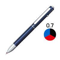 3色ボールペン ダブル3アクション 0.7mm ブルー軸 青 ギフトケース入り 10本 BWBM-1000#56 プラチナ万年筆