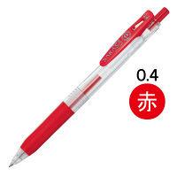 ゲルインクボールペン サラサクリップ 0.4mm 赤 10本 JJS15-R ゼブラ