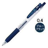 ゲルインクボールペン サラサクリップ 0.4mm ブルーブラック 紺 10本 JJS15-FB ゼブラ