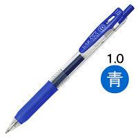 ゲルインクボールペン サラサクリップ 1.0mm 青 10本 JJE15-BL ゼブラ