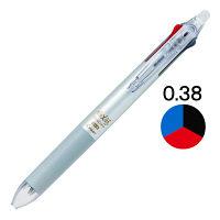フリクションボール3スリム 0.38mm シルバー軸 銀 消せる3色ボールペン 5本 LKFBS-60UF-S パイロット