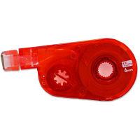 プラス 修正テープ ホワイパースイッチ 詰め替えテープ 幅6mm×15m レッド 赤 10個 50139